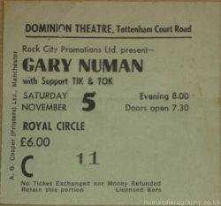London Domionion Ticket 1983